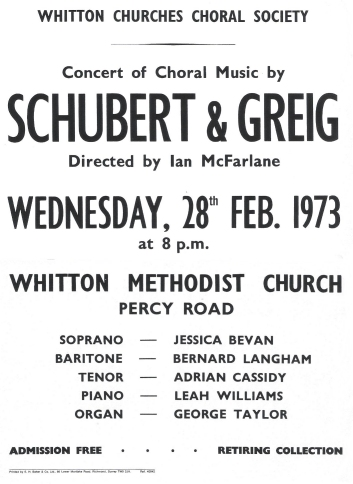 Poster for 28th February 1973