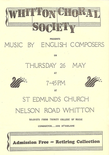 Poster for 26th May 1988