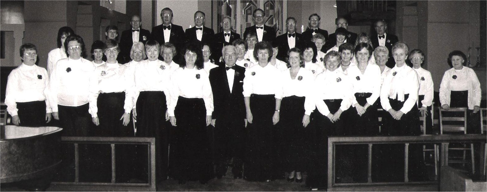 The choir at the Christmas concert 8th December 1990 in St. Augustine's Church Whitton