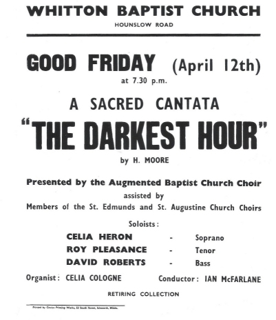 Poster for Good Friday almost certainly 1968