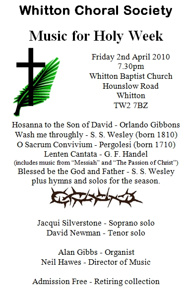 Poster for Good Friday 2010