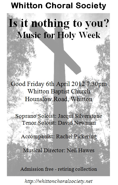 Programme cover for Good Friday 2012