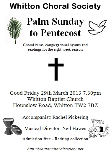 Cover of programme for Good Friday 2013