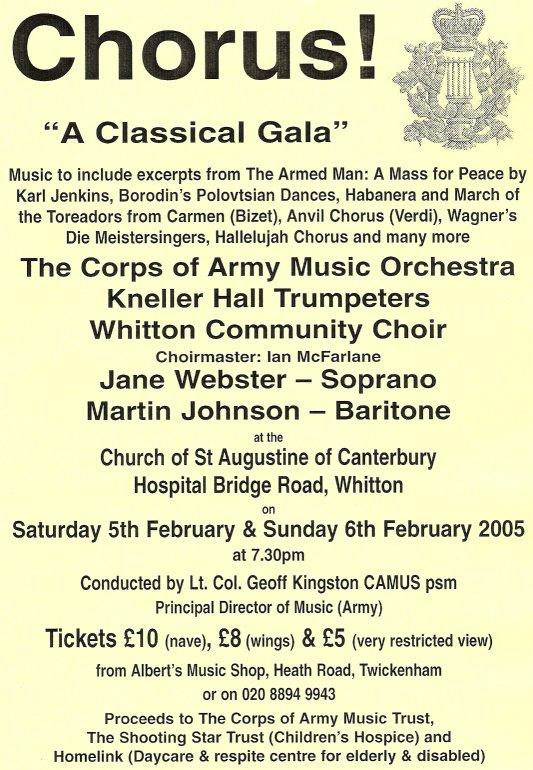Whitton Choral Society - Past concerts